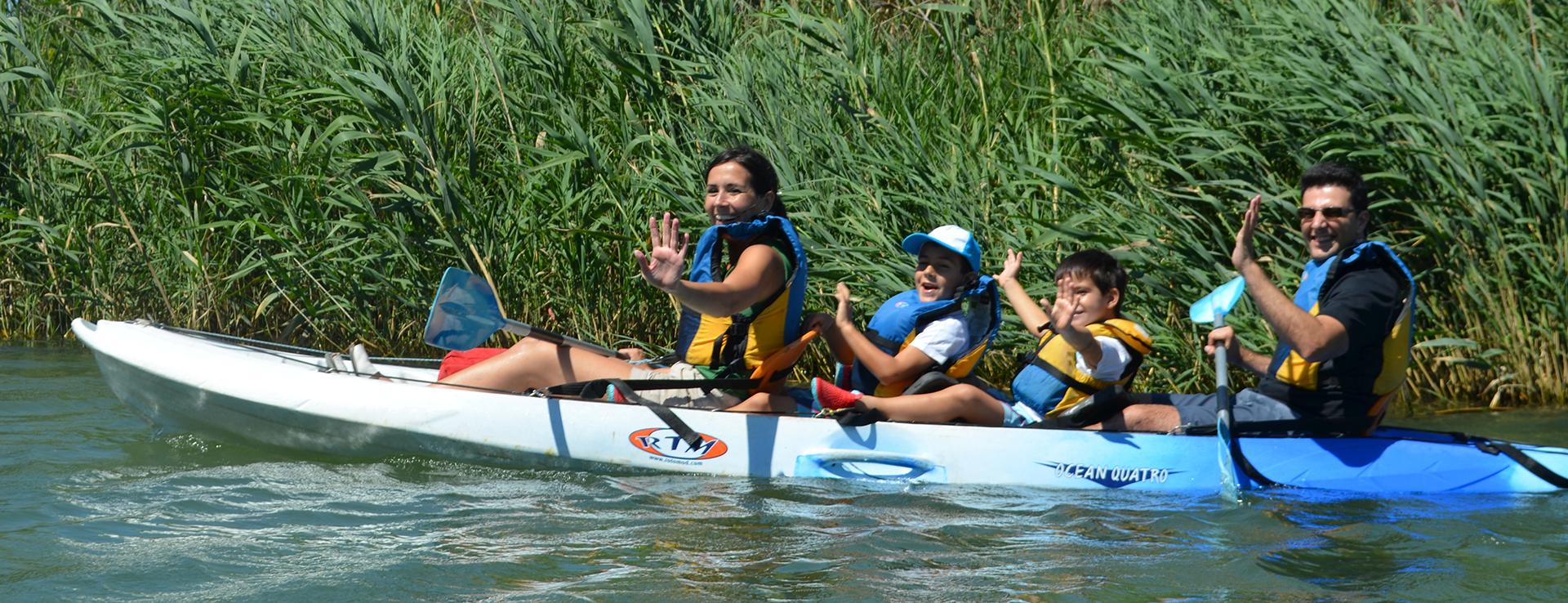 Ruta en kayak por la desembocadura del Ebro