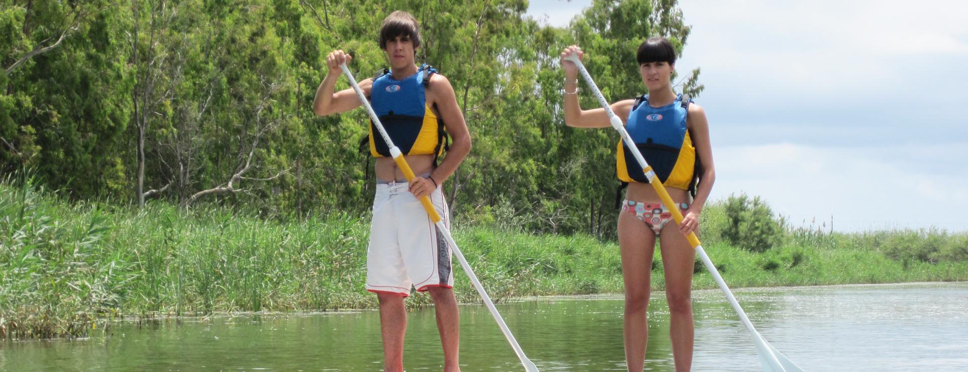 Práctica Paddle Surf en el Delta del Ebro