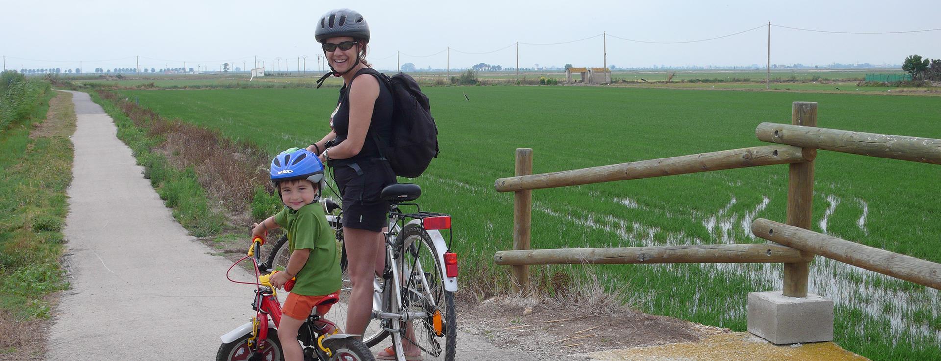 Excursiones en bicicleta por el Parque Natural del Delta del Ebro