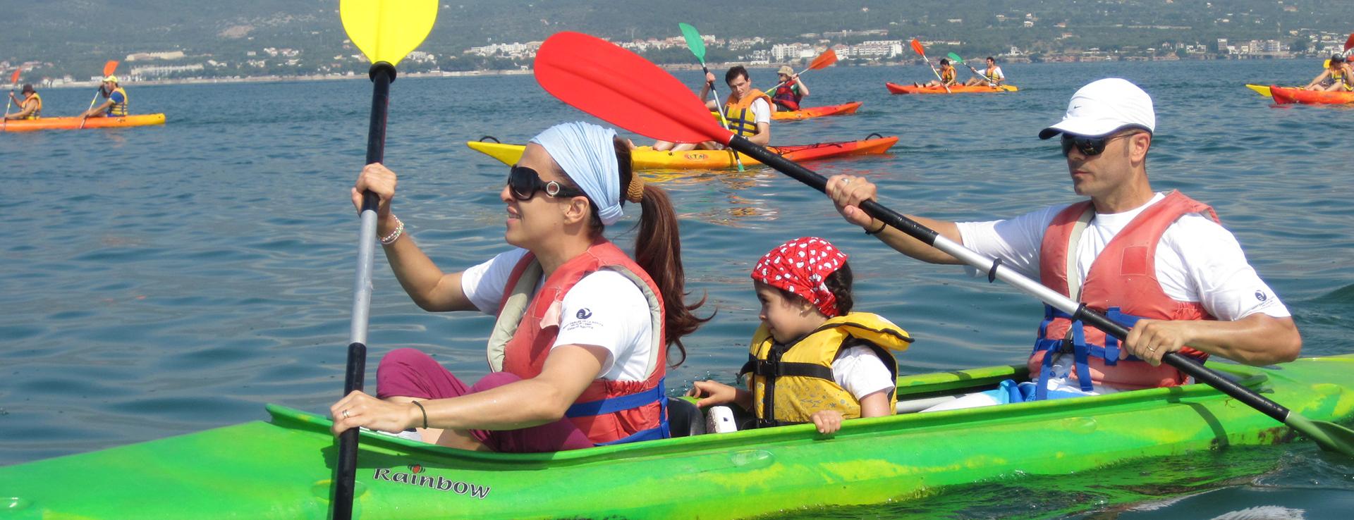 Kayak o canoa en famila en Sant Carles de la Ràpita