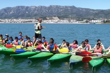 Cursos para niños y escuelas de kayak-canoa en el Delta del ebro