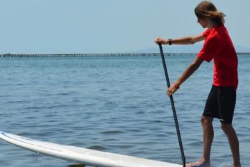 Practica Paddle Surf en el Delta del Ebro