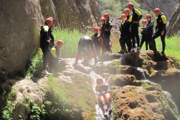Descenso de barrancos en el Parque Natural dels Ports de Tortosa-Beceite
