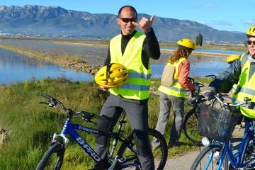 Excursiones en bicicleta para la observación de flamencos en el Delta del Ebro