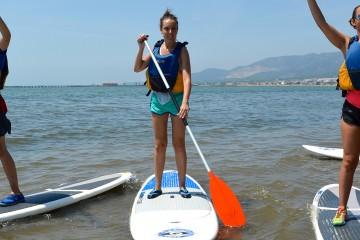 Paddle surf por la Bahía de los Alfacs en el Delta del Ebro
