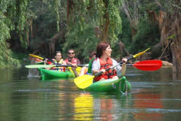 kayak en el rio ebro