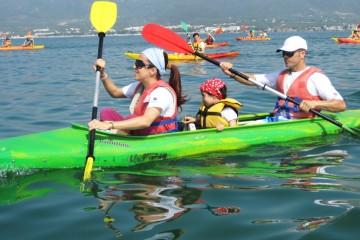 Kayak en familia en el delta del ebro
