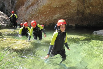 Descenso de barrancos en el parque natural de Tortosa Beceite