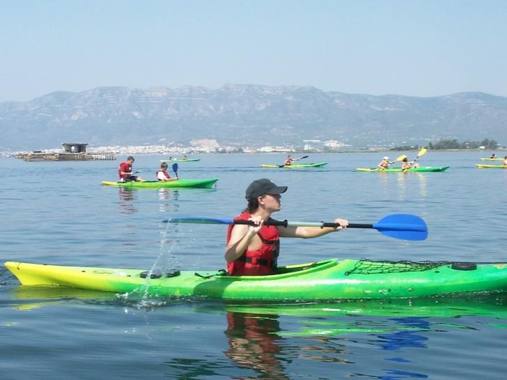 Kayak canoa por el Delta del Ebro