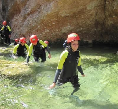 Descenso de barrancos en el Parc Natural dels Ports de Tortosa Beceite