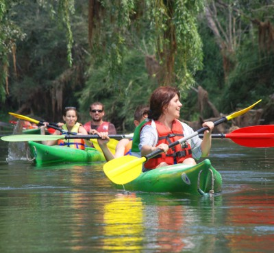 Kayak or canoa in the Delta del Ebro