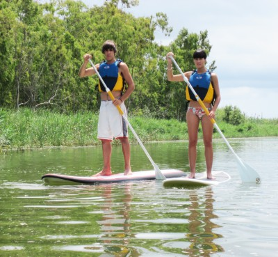 Paddle surf in the Delta del Ebro