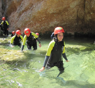 Canyoning in the Parc Natural dels Ports de Tortosa Beceite